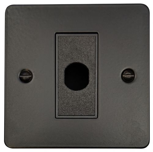 G&H FFB79B Flat Plate Matt Black 1 Gang Flex Outlet Plate